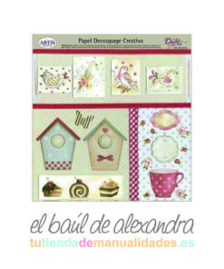 papel de decoupage casitas