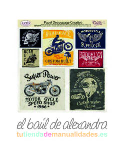 Papel de decoupage motos