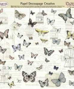 Papel de decoupage mariposas I