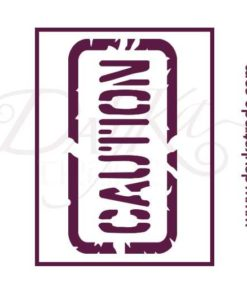Stencil placa caution v-301
